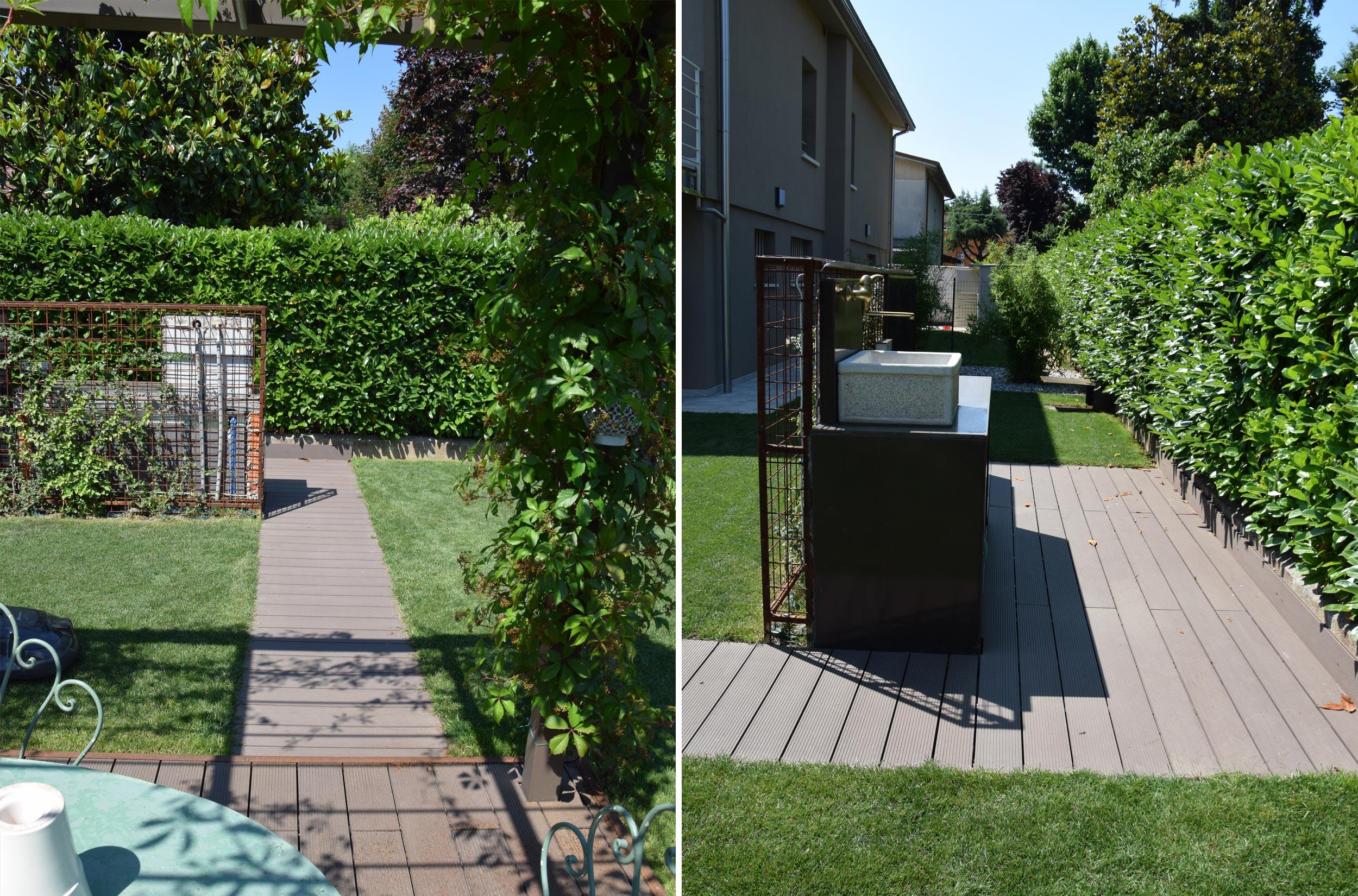 Giardino casa privata verolanuova bs progettazione - Giardini privati progetti ...