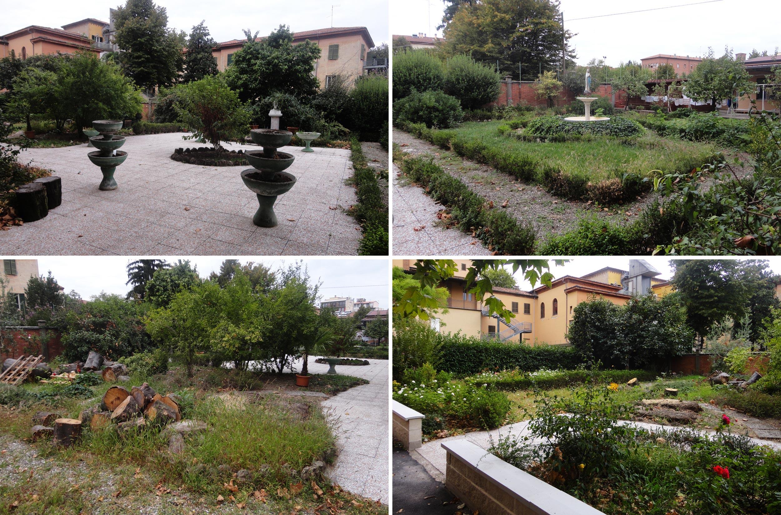 Sistemazione del giardino di pertinenza di un convento nel for Sistemazione giardino
