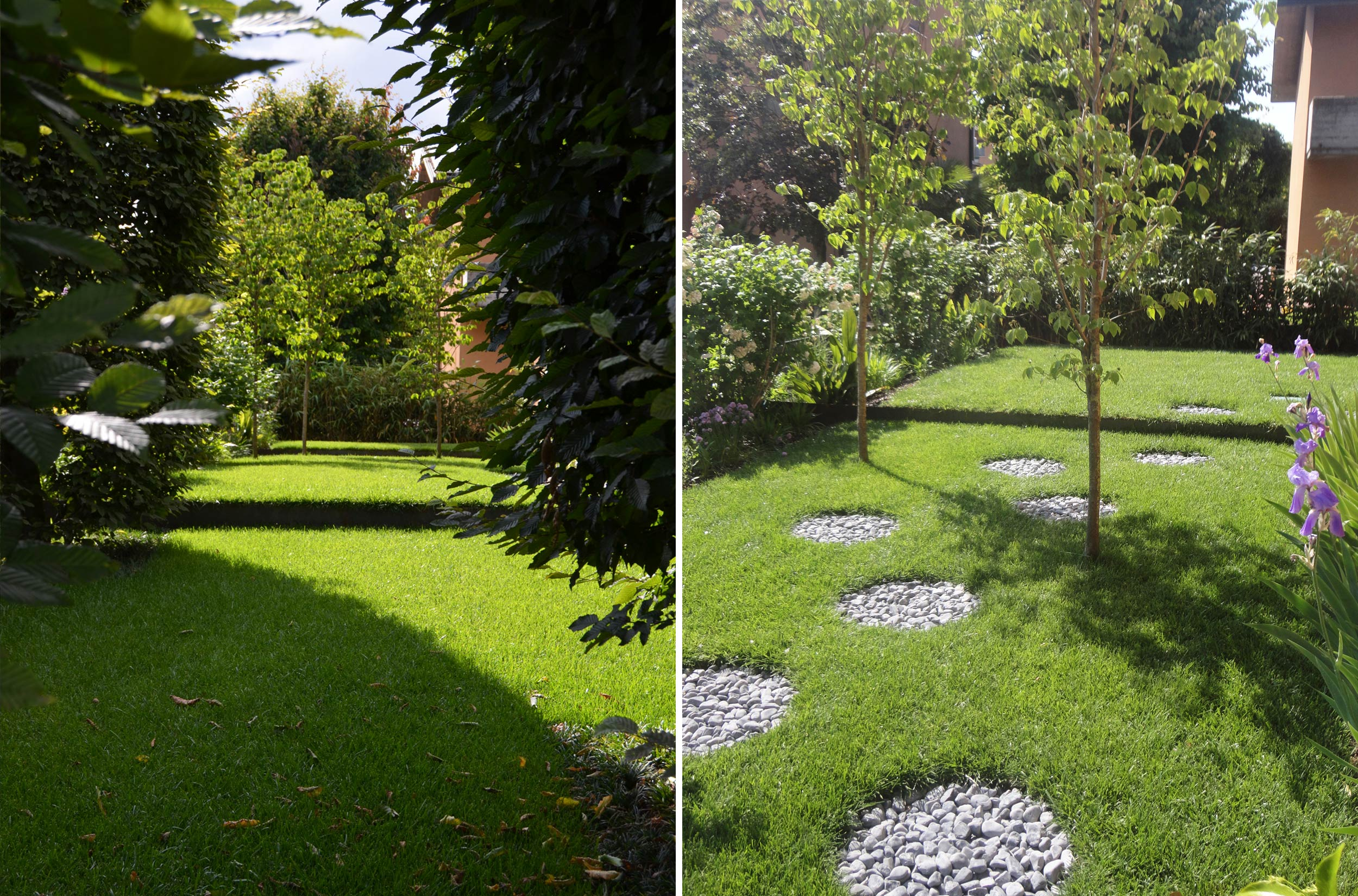 Giardino di abitazione privata leno bs progettazione - Giardini privati progetti ...