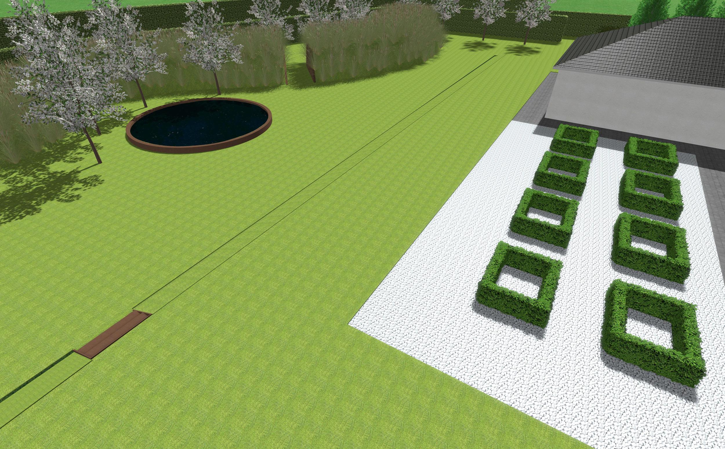 Giardino casa privata telgate bg progettazione for Corso progettazione giardini